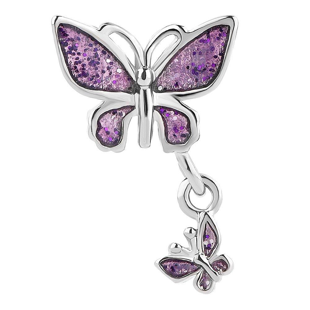 korliya Schmetterling Charm Bead f/ür Armband