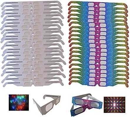 Neon//Rainbow Mix Rob/'s Super Happy Fun Store Robs Super Happy Fun Store 51 Pair of Fireworks Diffraction Glasses