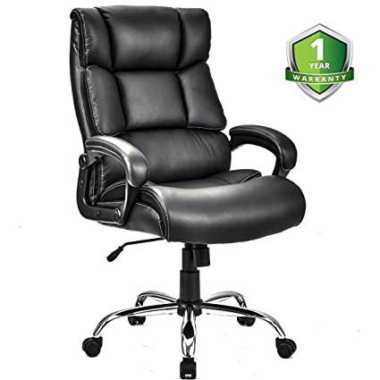 Miraculous Merax Technical Leather Managers Chair Black And White Big Tall Deluxe Executive Chair Black W O Footrest Bralicious Painted Fabric Chair Ideas Braliciousco