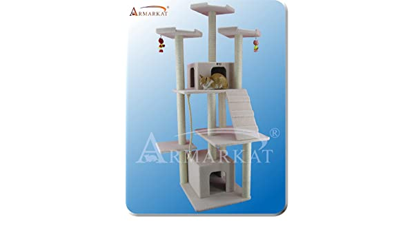 Amazon.com: ARBOL para GATOS de ARMARKAT modelo CLASSIC FAUX FLEECE B8201: Health & Personal Care