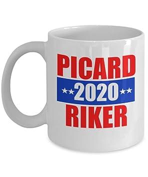 Trek Mugblanc311 Gram Star Riker 8 2020 Picard Funny P0wnOk8