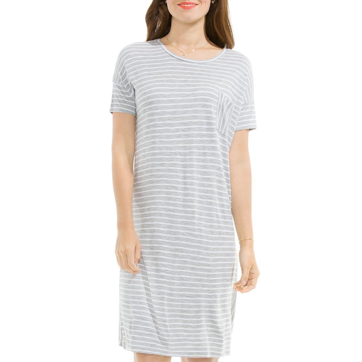 6dcd56a5b7cb Amazon.com: Two by Vince Camuto Womens Striped Short Sleeve T-Shirt Dress:  Clothing
