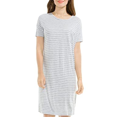 1ef53067674 Amazon.com  Two by Vince Camuto Womens Striped Short Sleeve T-Shirt ...