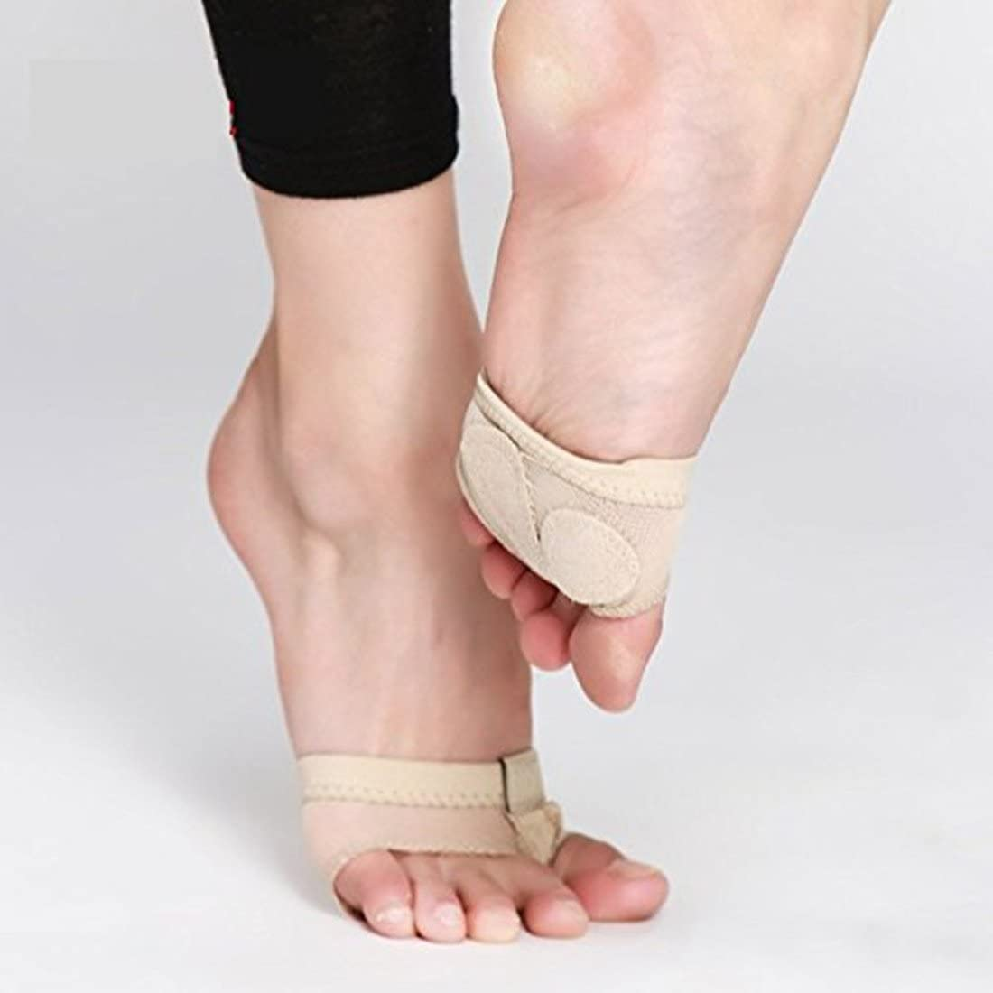 1 Pair Nude Color Dance Foot Thongs All Sizes Ballet Lyrical Dance Shoes NEW