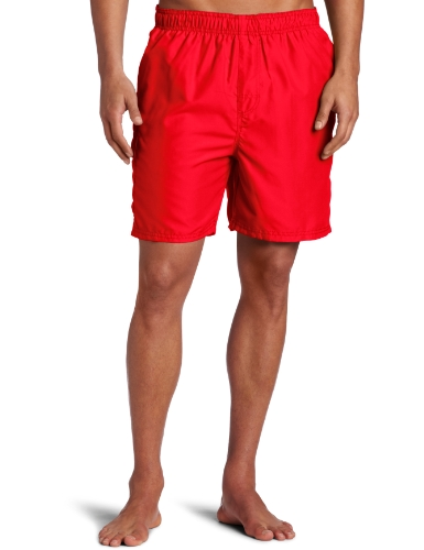 Swim Red Mens Trunks (Kanu Surf Men's Havana Swim Trunks (Regular & Extended Sizes), Red, Medium)