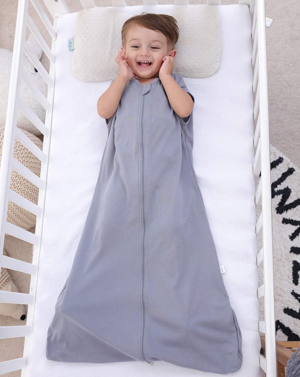12-36 monate 0,5 tog azul Jirafa azul Talla:110CM Saco de dormir para beb/é de verano para ni/ña primavera pijama de algod/ón fino con b/úho verde