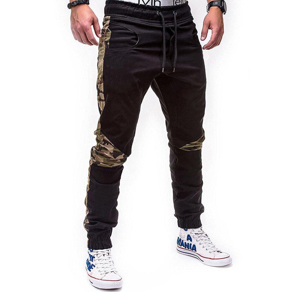 Spbamboo Mens Sweatpants Sport Joint Lashing Belts Casual Loose Drawstring Pants by Spbamboo (Image #6)