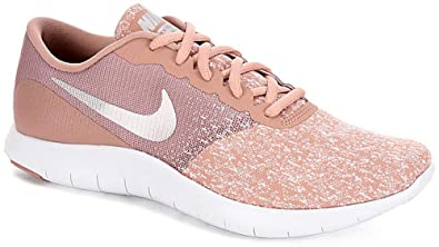 01c994d7d14ab Nike Women's Flex Contact Running Shoe, White/Metallic Silver-Particle  Pink, 11