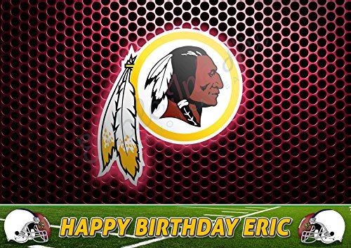 Washington Redskins NFL Edible Cake Image Topper Personalized Icing Sugar Paper A4 Sheet Edible Frosting Photo Cake 1/4 ~ Best Quality Edible Image for cake ()