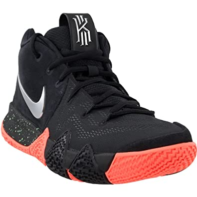 6781b9c2ab3ff Nike Mens Kyrie 4 Basketball Shoe Black/Metallic Silver (10)