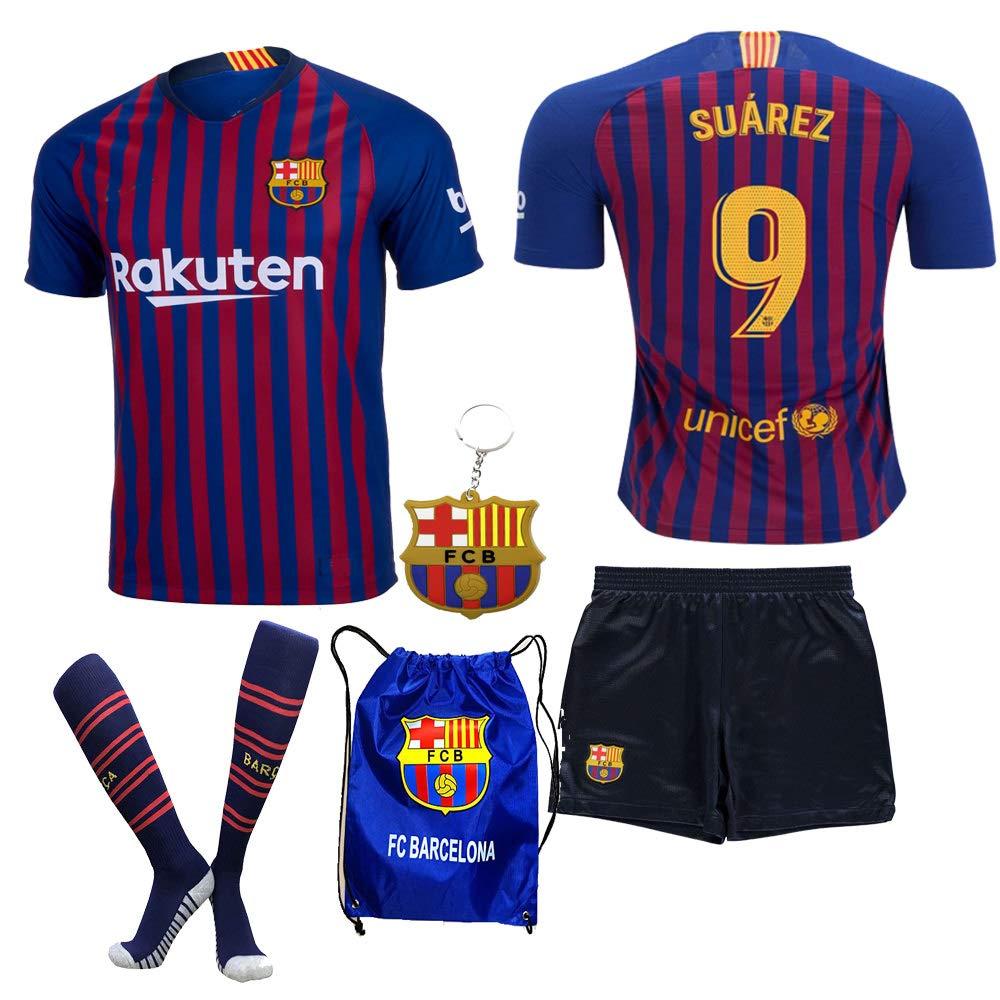 e6dd74196 BARCA2018 Barcelona NB Messi Suarez Coutinho No Name 2018 2019 18 19 Kid  Youth Replica Home Jersey Kit   Shirt