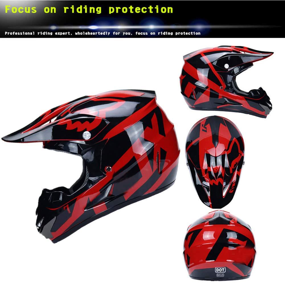Motorbike Cross Helmet Adult Full Face MTB Helmet Motorcycle Crash Helmet for Downhill Dirt Bike MX Quad Bike ATV Black and Pink//DOT Certification MRDEAR Motocross Helmet for Women