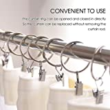 Mixxii Silver Curtain Rings with Clips 1.5