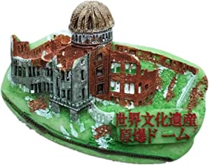 Fridge Magnet Hiroshima Japan Asia 3D Resin Handmade Craft Tourist Travel City Souvenir Collection Letter Refrigerator Sticker