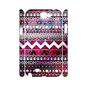 Aztec Tribal Pattern Customized 3D Cover Case for Samsung Galaxy Note 2 N7100,custom phone case ygtg537886 hjbrhga1544