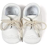 Zapatos Bebe Niño bebés Niña Primeros Pasos Zapatillas de Deporte con Cordones PU Suave para Bebés