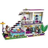 Bela 10498 Friends Series Livi's Pop Star House Building Blocks Andrea mini-doll figures