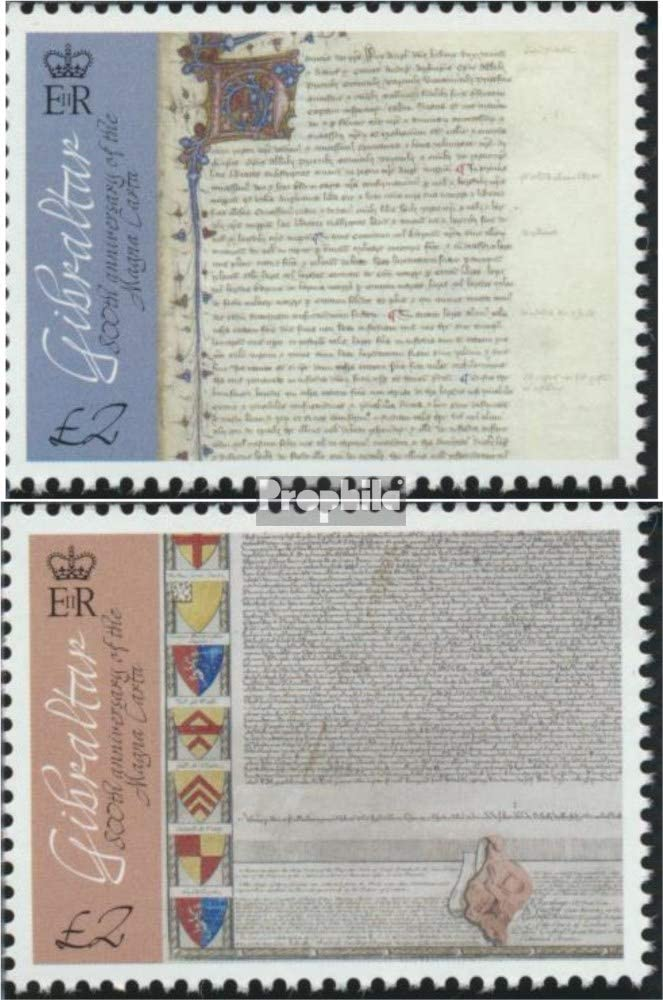 Prophila Collection Gibraltar Michel.-No..: 1713-1714 (Completa.edición.) 2015 declaración el Magna Carta (Sellos para los coleccionistas): Amazon.es: Juguetes y juegos