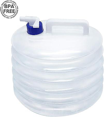 KONKY Cubo de Agua Portátil Garrafa Plegable, 10L/15L ...