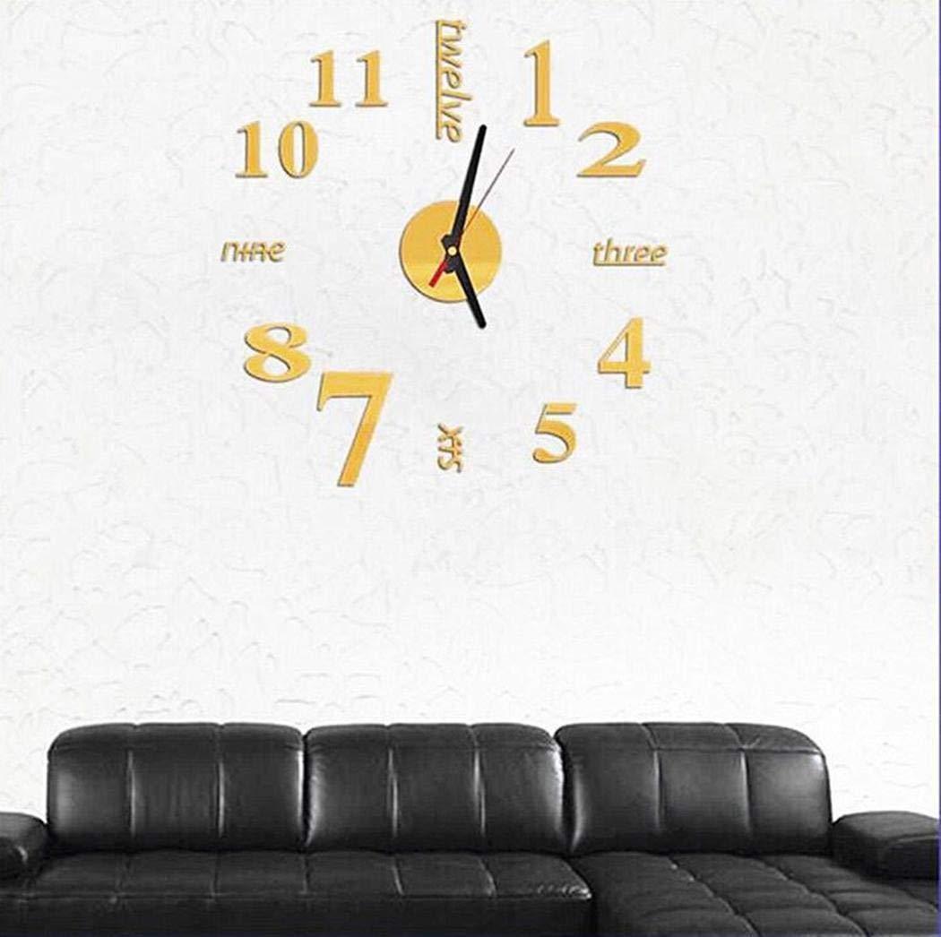 Zimrio Orologio Decorativo per la casa con Orologio da Parete al Quarzo di Forma Rotonda Muto Casa e Cucina