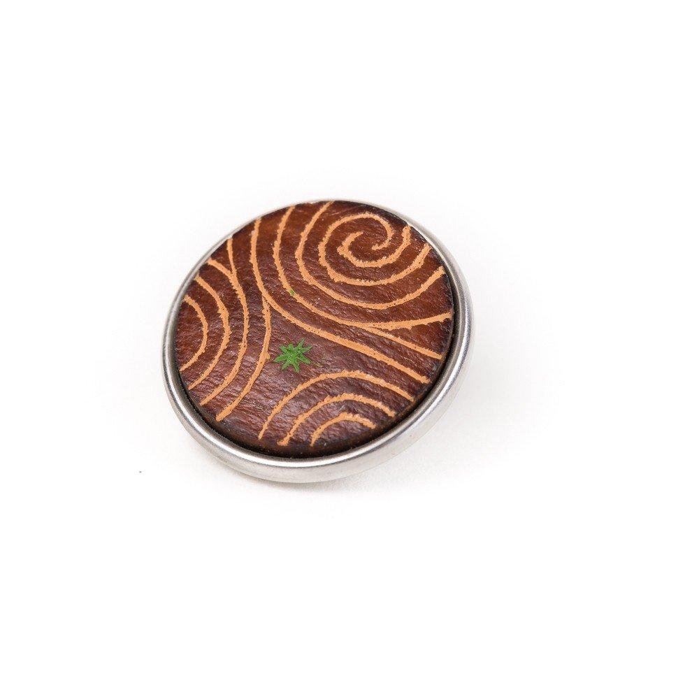 Noosa Chunk Trispiral brown-print gourd