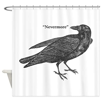8db0809a Amazon.com: CafePress Nevermore Raven Shower Curtain Decorative ...