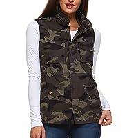 Fashionazzle Women's Lightweight Sleeveless Military Anorak Utility Jacket Vest
