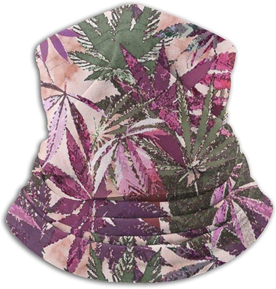 Randy-Shop Cannabis Sativa Calentador de Cuello Bufanda Polainas Bandanas Clima frío Invierno Aire Libre Deportes