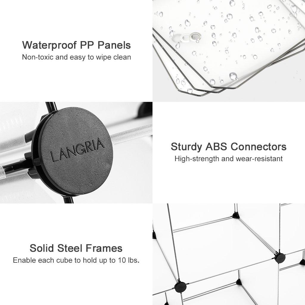 LANGRIA Modular Shelving, DIY Closet Organization System, Plastic ...