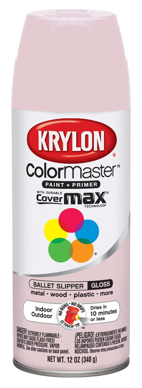 Krylon K05353402 Ballet Slipper Interior and Exterior Decorator Paint - 12 oz. Aerosol