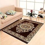 Home Elite Ethnic Velvet Touch Abstract Chenille Carpet - 55'x80', Multicolour