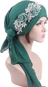 Tukistore algodón Pañuelo la Cabeza Cómodo patrón de Flores cáncer Turbante elástico Sombrero de quimioterapia Sombrero Chemo de la Gorrita para Mujer: Amazon.es: Electrónica