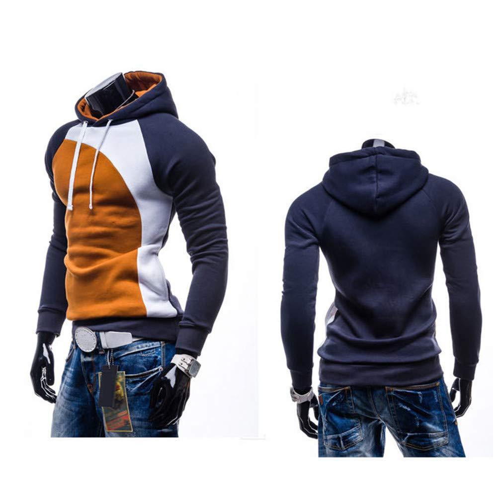 Men's Coats for Men's Autumn Winter Hoodie Sweatshirt Pullover, Outdoor Coat Ennglun