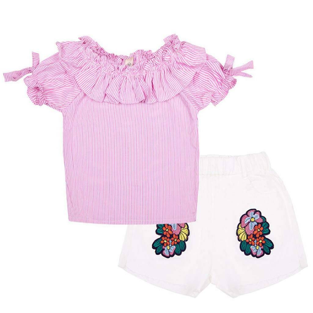 LIKESIDE Outfits Sets Infant Simple Casual T-Shirt Vest Shorts Spring Holiday