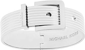 Michael Kors Ribbed Padlock Buckle Bangle Bracelet