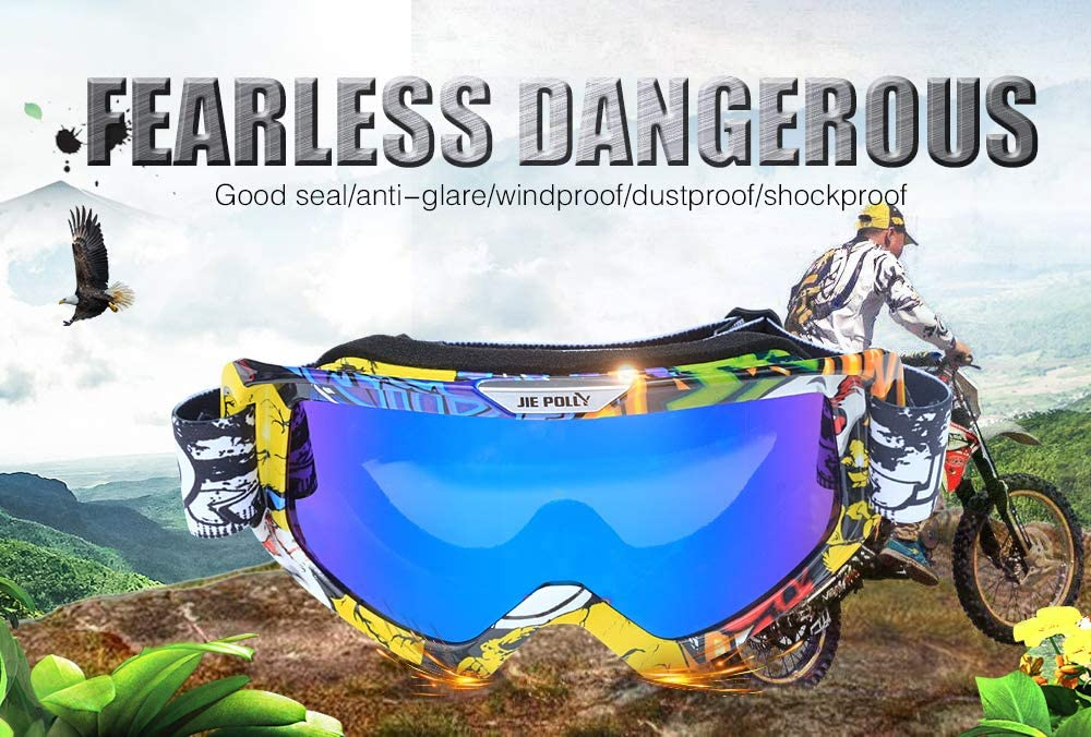 Motorcycle Goggles Motocross ATV Goggles Dirt Bike Goggles Mx Offroad Goggles for Men Women