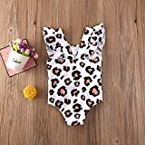 LAJIFENLEI Infant Toddler Baby Girl Leopard Ruffle