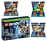 Lego Dimensions Starter Pack + Sonic The Hedgehog Level Pack + Gremlins Team Pack + E.T. Fun Pack for Xbox One or Xbox One S Console