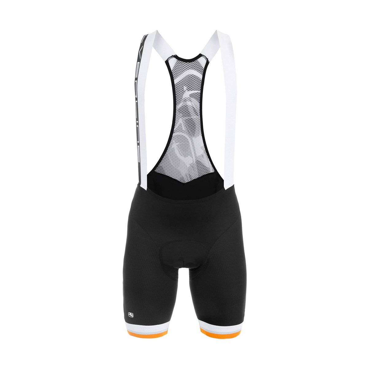 Giordana メンズ シルバーライン サイクリング ビブショーツ - GI-S6-BIBS-SILV Large Black/Orange Accents B01AGTOQDQ