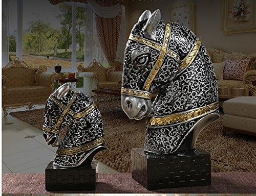 European Home Furnishing lucky horse horse general living room crafts wine TV cabinet office zj01271114 ( Color : Gold , Size : L ) by Supper pp