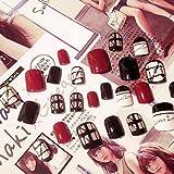 24pcs Acrylic Design False French Nails Full Nail