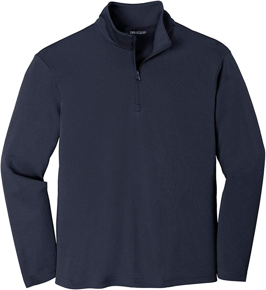 DRIEQUIP Youth Moisture Wicking Competitor 1//4-Zip Pullover in Sizes XS-XL