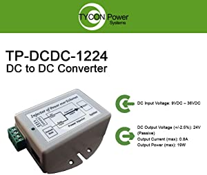 Tycon Systems DC to DC Converter, 12VDC Input Voltage 24VDC Output Voltage, 19W Maximum Output Power (TP-DCDC-1224)