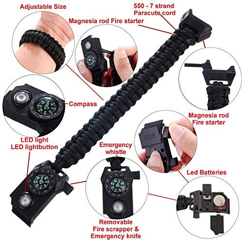 Paracord bracelet kids survival