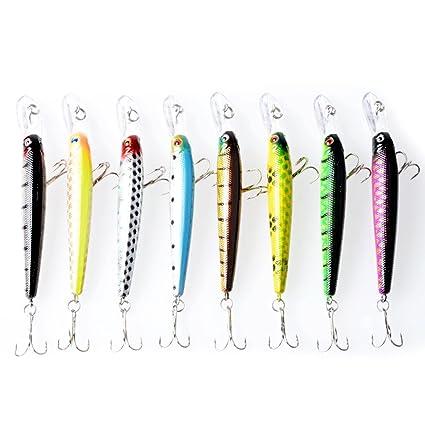 1pcs Plastic Minnow Fishing Lures Bass Bait Swimbait Crankbaits Tackle 10cm