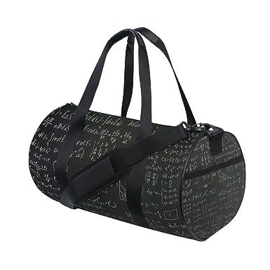 AHOMY Sports Gym Bag Mathematical Formula Duffel Bag Travel Shoulder Bag