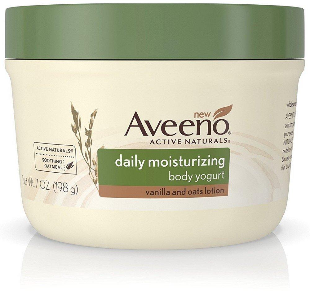 AVEENO Active Naturals Daily Moisturizing Body Yogurt Lotions, Vanilla & Oats 7 oz (5 Pack)