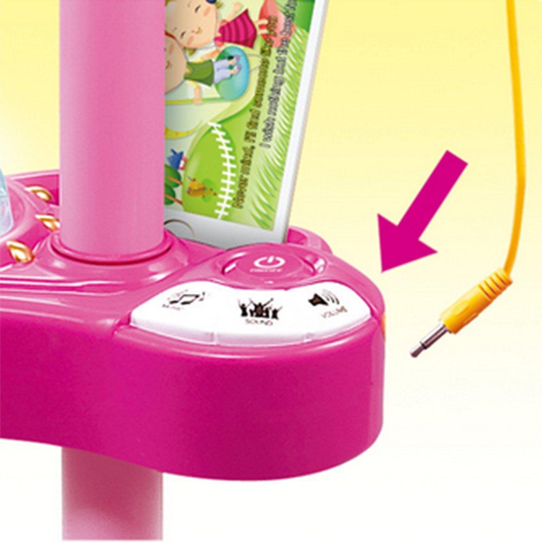 Polai Mikrofon Kinder mit St/änder Kinder Karaokemaschinen