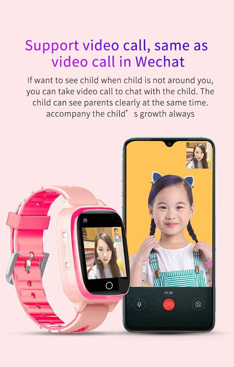 B&H-ERX Montre Intelligente pour Enfants avec GPS LBS Double Positioning Tracker Appel Téléphonique Montre Intelligente Étanche pour Enfants SOS Games Caméra Podomètre pour Enfants De 3 À 12 Ans Purple