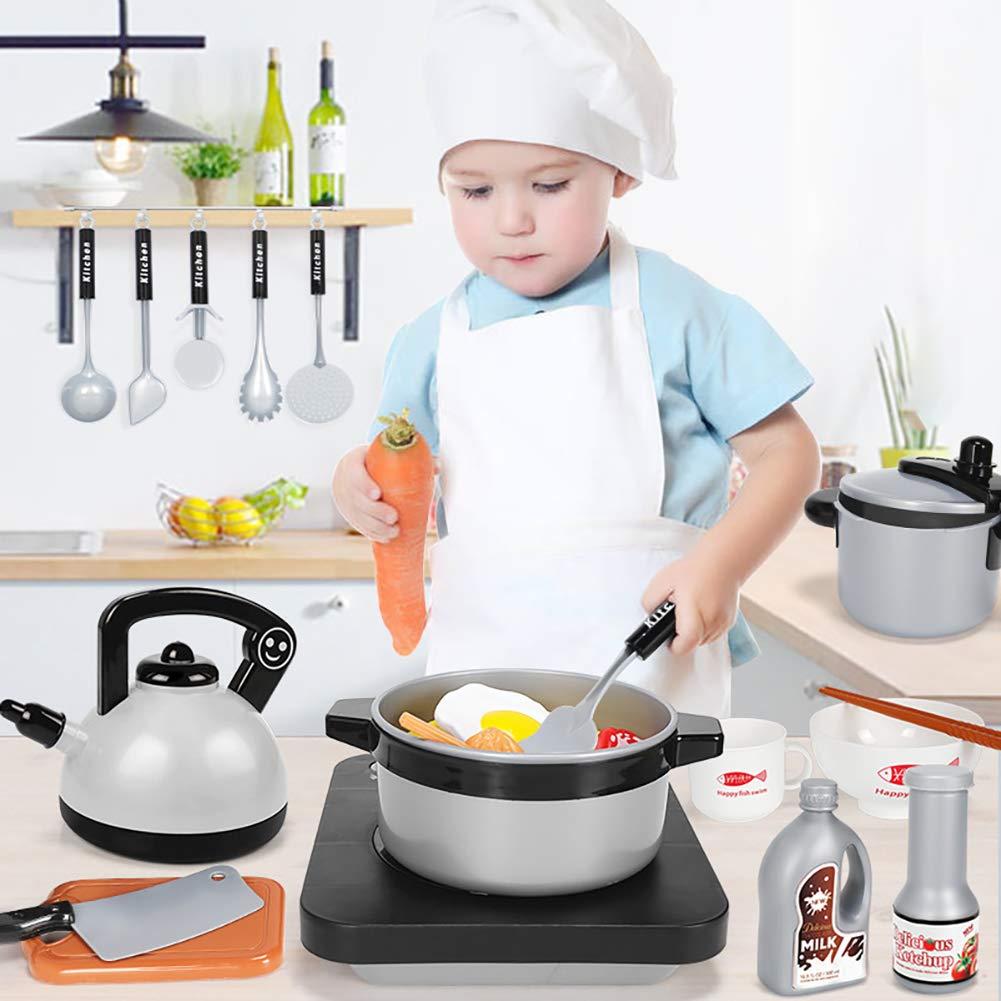 Baywell Cucina Giocattolo Accessori per Cucina 9//15//20//36 Pezzi Cucina Giocare Mangiare Pentole e Padelle e Tea Party Preparazione Cucina Set di Stoviglie Giocattolo in Plastica per Bambini